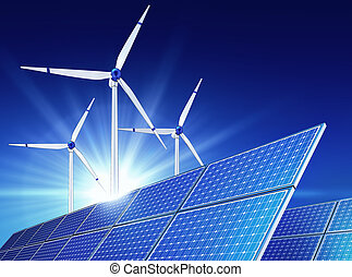 green energy - high resolution 3d rendering of a green...