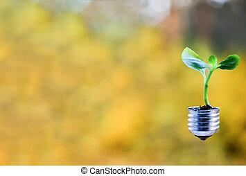 Green energy symbols ecology.