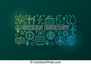 Green Energy vector banner