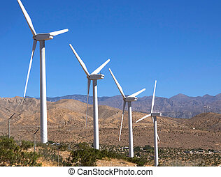 Green Energy - Windmill farm located near Palm Springs