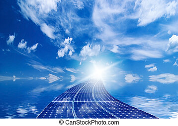 green energy with photovoltaic panels