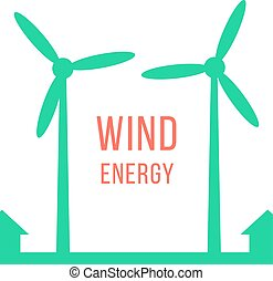 green energy with two wind motors