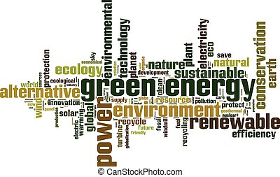 Green energy word cloud
