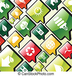 Green environment apps icons background
