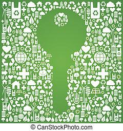 Green environment key background
