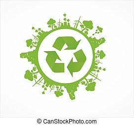 Green environmental earth - Green environment symbols on ...