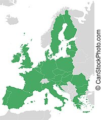green European Union map