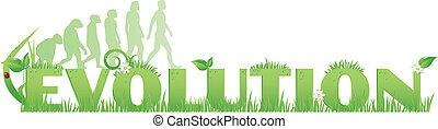 Green Evolution - Evolution text decorated...