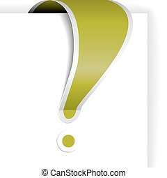Green exclamation mark with white border