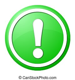 green exclamation point button