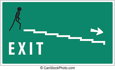 green exit sign