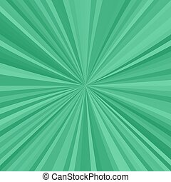 Green explosion background from radial stripes