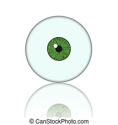 green eye ball