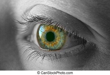 Green eye so beautiful