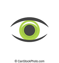 Green eye icon