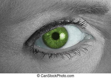 Green Eye Looking at