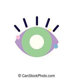 green eye stars decoration icon