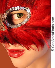 masquerade - green eyed beauty at the masquerade