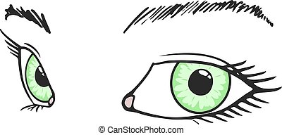 green eyes draw