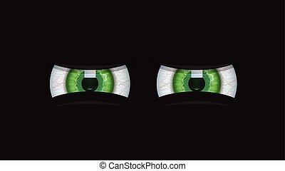 Green Eyes Icon