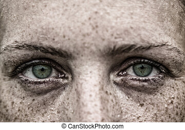 Green eyes woman