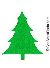 Green fabric Christmas tree