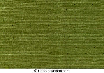 Closeup detail of green fabric texture background.