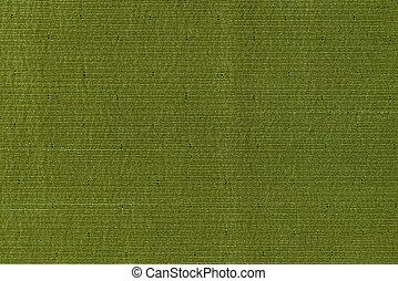 Green fabric texture - Closeup detail of green fabric...