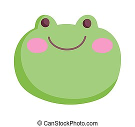 green face frog farm cartoon animal