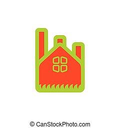 green factory symbol logo vector