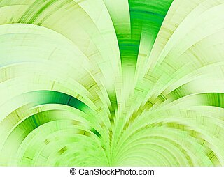 Green fan. Abstract background