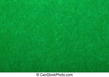 Green felt on casino table