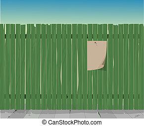 green fence illustration
