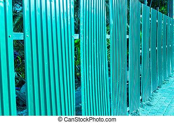 Green fence steel sheet texture