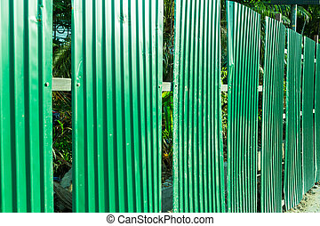 Green fence steel sheet texture