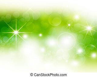 green festive bokeh background