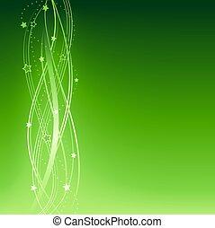 Green festive Christmas, New Years, anniversary background