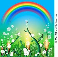 green field of fairy