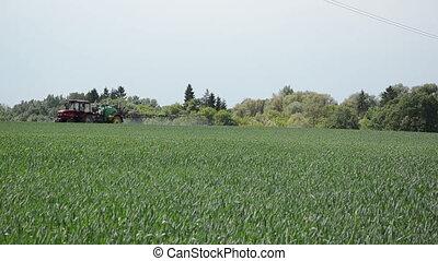 green field tractor