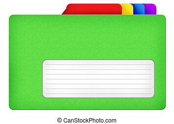 Green file folder