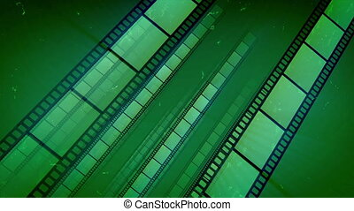 """Green Film Tape Placed Aslant Move"" - ""An arty 3d rendering..."