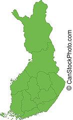 Green Finland map