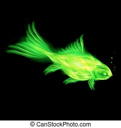 Green fire fish.