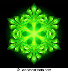 Green fire snowflake.