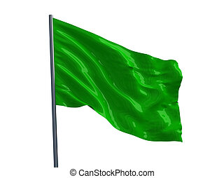 Green flag. 3d render