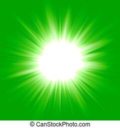 Green flash star background