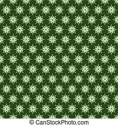 green flora pattern design