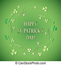 green floral background for st patrick's day - vector