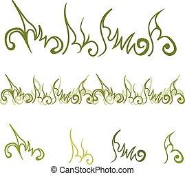 Green floral element