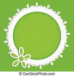 Green Floral Ornament With Space for Text